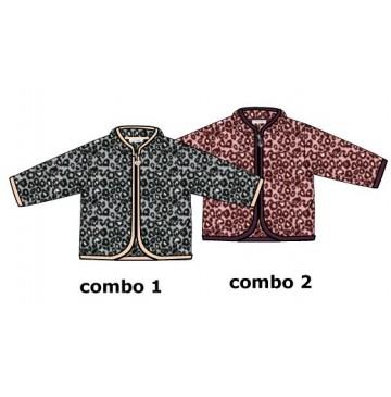 134413 Nocturne baby girls cardigan sweater combo 2 flamingo pink (4 pcs)
