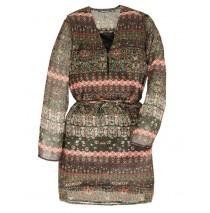 134438 Earthed ladies dress 2 colors (18 pcs)