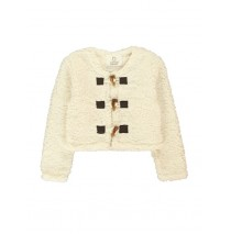 Earthed cardigan sweat small girls offwhite (5 pcs)
