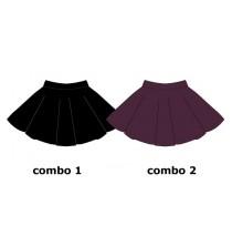 Earthed teen girls skirt combo 2 winetasting (6 pcs)