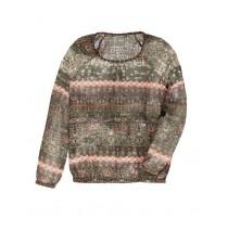 130981 Earthed ladies blouse 2 colors (18 pcs)