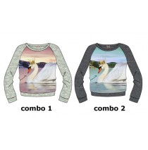 134492 small girls sweatshirt combo 2 dk gray melange (6 pcs)