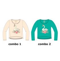 Infusion small girls shirt combo 2 enamel blue (6 pcs)