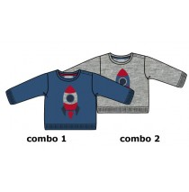 Infusion baby boys pullover combo 2 grey melange (4 pcs)