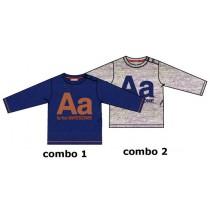 134556 Earthed baby boys shirt combo 2 grey melange (4 pcs)
