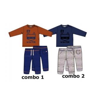 134557 Earthed baby boys set combo 2 blue depths (4 pcs)