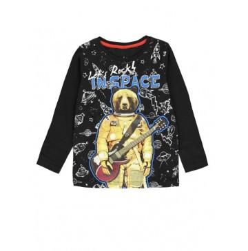 134598 Earthed small boys shirt combo 1 black (6 pcs)
