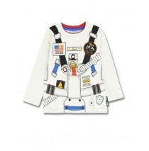 Earthed small boys shirt combo 1 light grey melange (6 pcs)