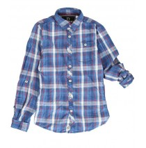 134636 Design Matters teen boys blouse combo 1 blue (6 pcs)