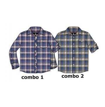 134636 Design Matters teen boys blouse combo 2 chai tea (6 pcs)