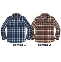 134658 Earthed small boys blouse combo 2 ketchup (6 pcs)