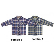 Earthed blouse baby boys blouse combo 2 chai tea (4 pcs)