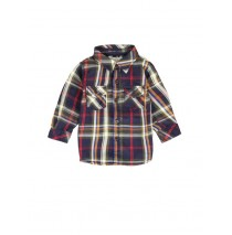 Infusion blouse baby boys blouse combo 1 dk blue checks (4 pcs)