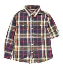 134668 Earthed small boys blouse combo 1 dk blue checks (6 pcs)
