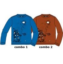 134675 Earthed small boys shirt combo 2 ketchup (6 pcs)
