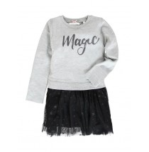 134676 Nocturne small girls dress grey melange (5 pcs)