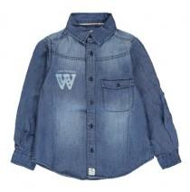 Small boys blouse denim (5 pcs)