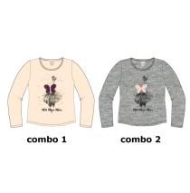 134692 Nocturne small girls shirt combo 2 grey melange (6 pcs)