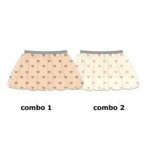 Nocturne baby girls skirt combo 2 marshmallow (4 pcs)