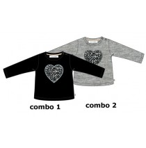 134696 Infusion baby girls shirt combo 2 gray melange (4 pcs)