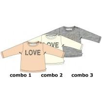 134698 Nocturn baby girls shirt combo 2 marshmallow (4 pcs)