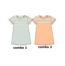134813 Design Matters baby girls dress combo 2 salmon (4 pcs)