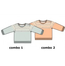 Design Matters baby girls pullover combo 2 salmon (4 pcs)