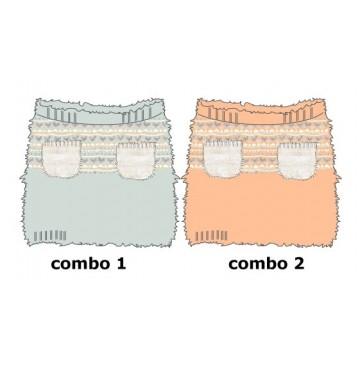 Design Matters baby girls skirt combo 2 salmon (4 pcs)