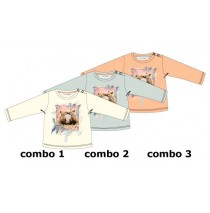Design Matters baby girls shirt combo 3 salmon (4 pcs)