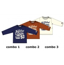 Earthed baby boys shirt combo 3 marshmallow (4 pcs)
