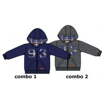 Earthed baby boys cardigan sweater combo 2 dark grey melange (4 pcs)