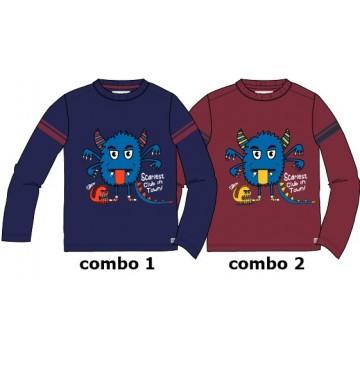 134898 Infusion small boys shirt combo 2 tibetan red (6 pcs)