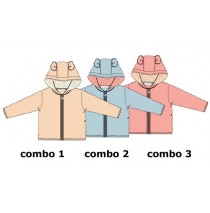 Design Matters baby girls cardigan sweater combo 2 chambray blue (4 pcs)