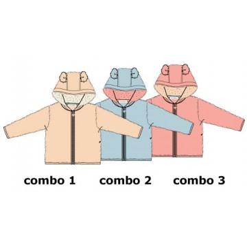 Design Matters baby girls cardigan sweater combo 2 chambray blue (4 pcs)