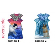 134982 Infusion baby reversable girls dress combo 2 squirrel (4 pcs)