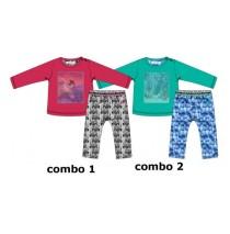 Infusion baby girls set shirt + legging combo 2 enamel blue (4 pcs)