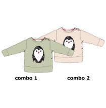134987 Infusion baby girls fleece sweatshirt combo 2 pearl (4 pcs)