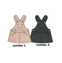 Nocturne baby girls dress combo 2 asphalt (4 pcs)
