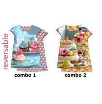 135005 Encounter small girls dress combo 2 primerose yellow (6 pcs)