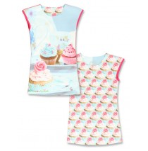 135005 Encounter small girls dress combo 1 enamel blue (6 pcs)
