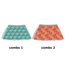 135008 Nocturne small girls skirt combo 2 raspberry (5 pcs)