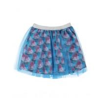 Small girls skirt enamel blue (5 pcs)