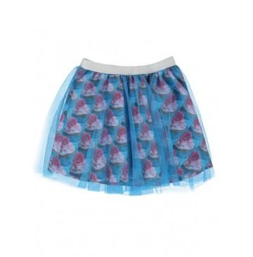 Small girls skirt raspberry (5 pcs)