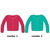 135012 Encounter Culture cardigan small girls combo 2 enamel blue (6 pcs)