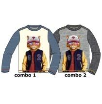 135072 Design Matters boys shirt combo 2 grey melange (6 pcs)