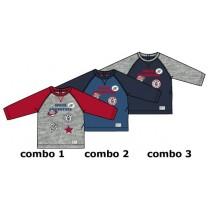 Infusion baby boys shirt combo 2 true navy (4 pcs)