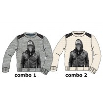 135101 Essentials teen boys sweatshirt combo 2 beige melange (6 pcs)