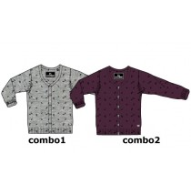 Nocturne teen boys cardigan combo 2 winetasting (5 pcs)