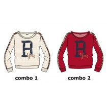 Earthed small girls sweatshirt combo 2 scarlet sage (6 pcs)
