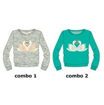 Infusion small girls sweatshirt combo 2 enamel blue (6 pcs)